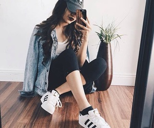 adidas, outfit, and hair image
