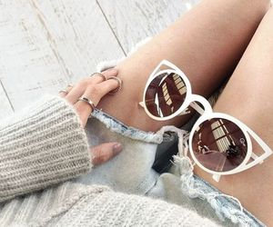 cateye, summer, and white image