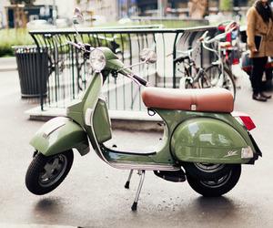 Vespa, green, and italy image