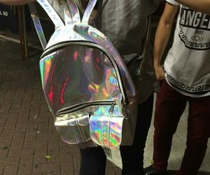 holographic, bag, and grunge image