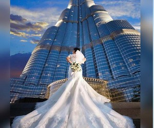 wedding, Dubai, and fashion image