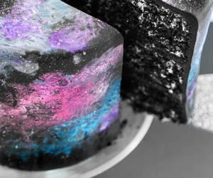 food, cake, and galaxy image