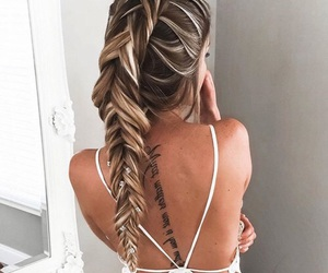 braids, summer, and girl image