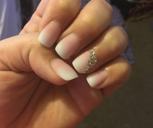 acrylic, jewels, and nails image
