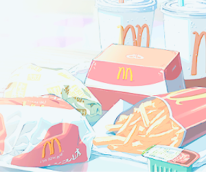 anime, food, and McDonalds image
