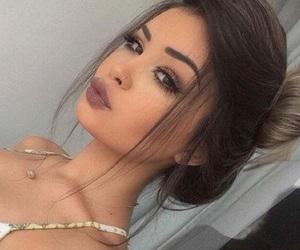 beautiful, bun, and eyebrows image