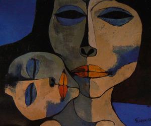 art, blue, and ecuador image