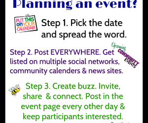 marketing, event planning, and social media image
