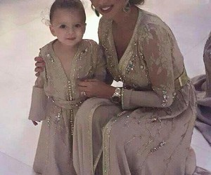 caftan, baby, and dress image