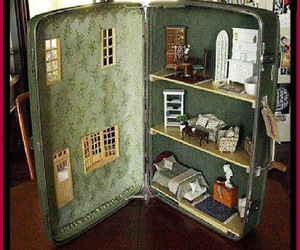 barbie, doll house, and repurposing image