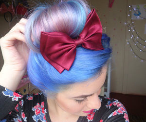 candy color, mermaid hair, and cabelo colorido image