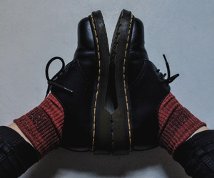 socks, style, and dr martens image