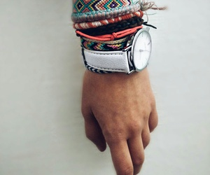 bracelet, hand, and watches image