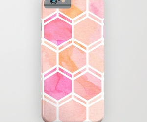 coral, girly, and iphone image