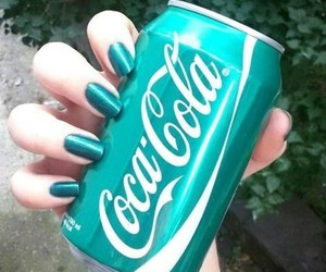 blue, nails, and coca cola image