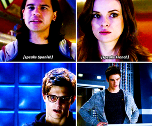 the flash, caitlin snow, and barry allen image