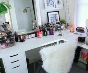 decoration, organization, and desk image