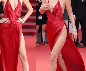 dress, model, and bella hadid image