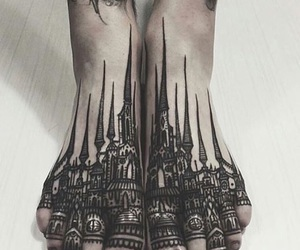 feet, girl, and ink image