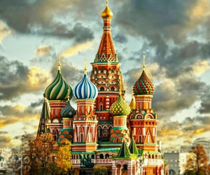 russia and moscow image
