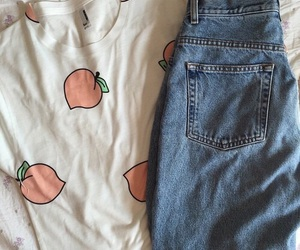 peach, tumblr, and clothes image