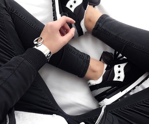 shoes, sneakers, and black image