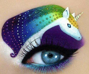 unicorn, makeup, and art image