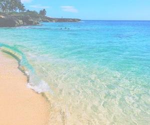 beach, bright, and sand image