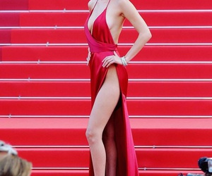 bella hadid, cannes, and dress image