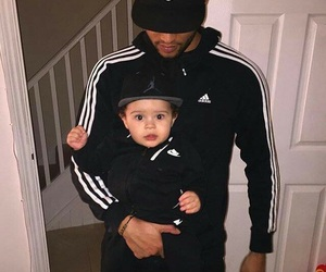 adidas, baby, and daddy image