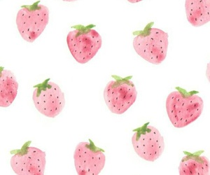 strawberry and wallpaper image