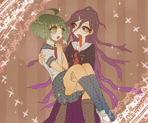 couple, danganronpa, and touko fukawa image