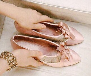 girly, shoes, and blush pink image