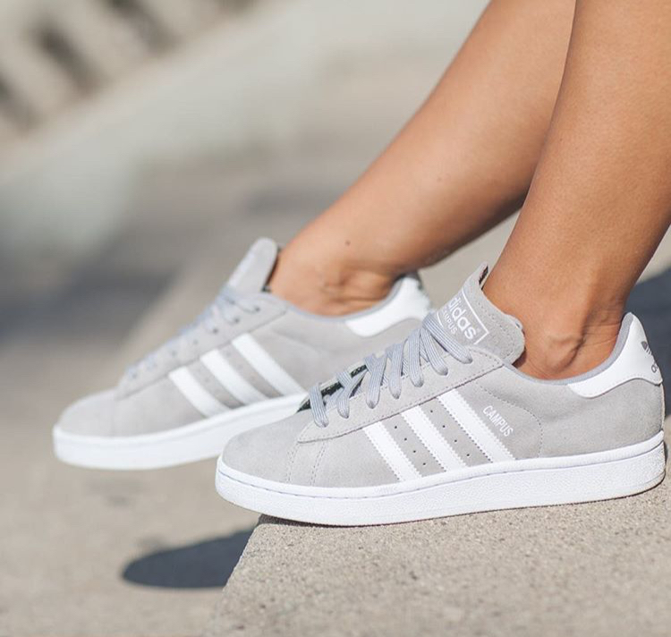 adidas campus grise homme