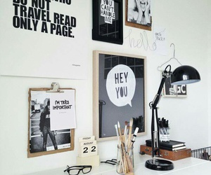 room, desk, and home image