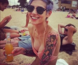 alternative, beach, and inked image