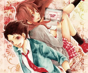 couple, tonari no kaibutsu-kun, and love image