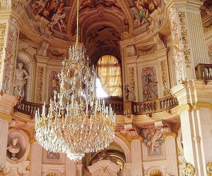 chandeliers, girly, and palace image
