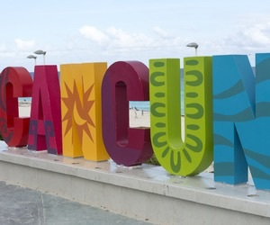 beach, cancun, and travel image