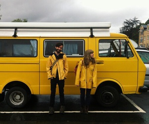 yellow, aesthetic, and couple image