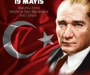 mustafa kemal atatürk, bayram, and 19 mayıs image