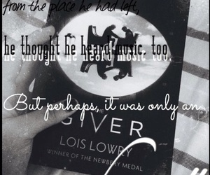 qoute, the giver, and only an echo image