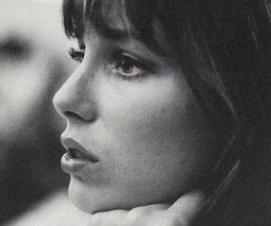 jane birkin, black and white, and photography image