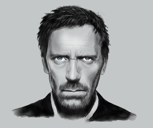 art, drawing, and dr house image