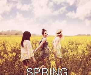 girls, spring, and friends image
