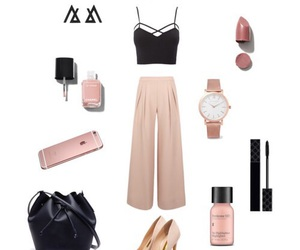 outfit, black, and Polyvore image