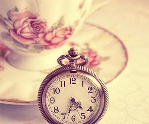 clock, tea, and time image