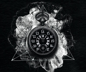 clock, him, and tears on tape image