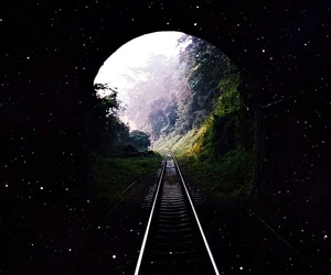 coldplay, train track, and forest image