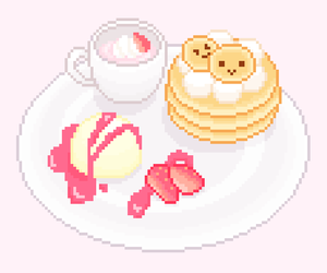 food, kawaii, and pixel image